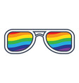 glasses with rainbow lenses vector image