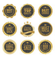 golden metal best choice premium quality badges vector image vector image