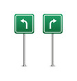 green highway sign with arrows board isolated on vector image vector image