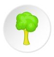 Green tree icon cartoon style vector image vector image