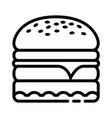 hamburger food icon design sign vector image