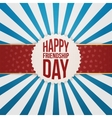 Happy Friendship Day Emblem on red Ribbon vector image