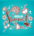 hello summer tropical background with palm vector image vector image