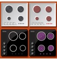 Induction and Electric Cooker Switched On and Off vector image vector image