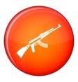 Kalashnikov machine icon flat style vector image vector image