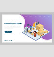 landing page website product delivery vector image