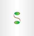 letter s plant leaves logo vector image vector image
