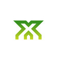 letter x logo icon design template vector image