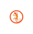 lizard animals logo and symbols temlate vector image vector image