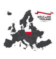 map of europe with the state of poland vector image vector image