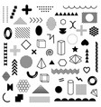 mega pack black geometric shapes isolated vector image vector image