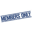 members only stamp vector image vector image