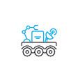 mobile laboratory thin line stroke icon vector image vector image