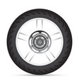 Motorbike wheel vector image