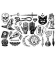 mystical magic boho elements witchcraft voodoo vector image vector image