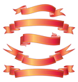 Ombre Red Ribbon vector image vector image