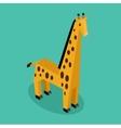 Orange 3d Giraffe vector image vector image