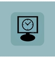 Pale blue clock monitor icon vector image vector image