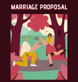 poster marriage proposal concept vector image