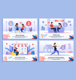 pregnant woman happy life flat posters set vector image vector image