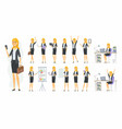 pretty businesswoman - cartoon people vector image vector image