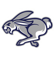 rabbit mascot vector image vector image