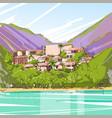 real estate big modern villa house in tropical vector image vector image