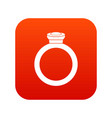 ring icon digital red vector image