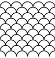 seamless fish scale background paving tiles vector image vector image