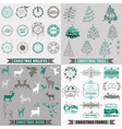 Set Christmas Calligraphic Design Elements vector image vector image