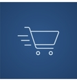 Shopping cart line icon vector image vector image