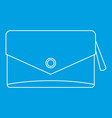 small bag icon outline style vector image vector image