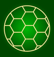 soccer ball icon thin lines vector image vector image