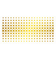 sparkle star golden halftone array vector image
