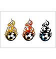 sport ball flame set 3 vector image