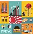 Symbols of Tokyo vector image vector image