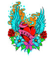 tattoo flowers vector image vector image