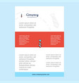 template layout for tie comany profile annual vector image