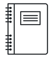text book isolated icon vector image vector image
