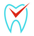 tooth curve icon flat style vector image vector image