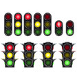 traffic light set isolated on white background vector image