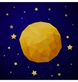 triangle background with moon and stars vector image vector image