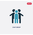 two color chat group icon from people concept vector image vector image