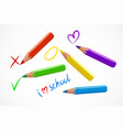 various colorful pencils vector image vector image