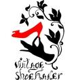 Vintage shoemaker silhouette vector image