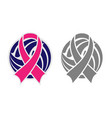 volleyball and ribbon vector image vector image