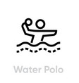 water polo sport icons vector image