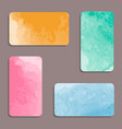 watercolor visiting card set vector image vector image