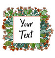 Web banner template pattern wreath cacti with