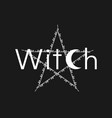 white line art witchcraft and magic print pentacle vector image vector image